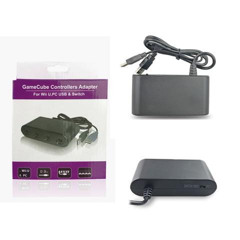Imagem de Adaptador de controle 4 portas para Gamecube para Wii U, PC USB e Switch