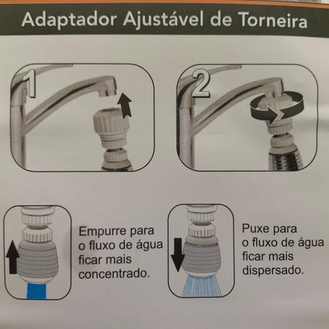 Imagem de Adaptador De Torneira Ajustável Prolongador Extensor Pia Cozinha Banheiro