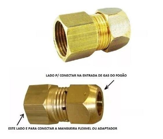 Imagem de Adaptador Fogão Femea Mangueira Flexível Gás Encanado Daco