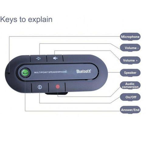 Imagem de Adaptador Kit Viva Voz Bluetooth Veicular Chamada Celular preto