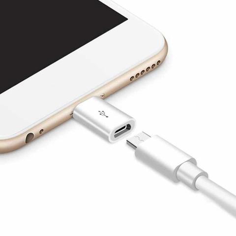 Imagem de Adaptador otg entra micro usb sai iphone 8 pinos