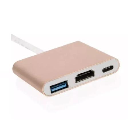 Imagem de Adaptador USB 3.1 Type C Thunderbolt 3.0 X Hdmi USB 3 Tipo C