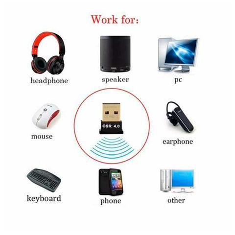 Imagem de Adaptador USB Bluetooth 4.0 Csr Dongle Para Computador e Notebook