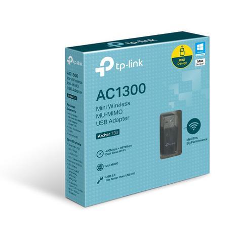 Imagem de Adaptador USB Mini Wireless MU-MIMO AC1300 Archer T3U