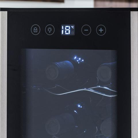 Imagem de Adega 12 Garrafas Com Acabamento Em Alumínio Escovado (ACS12)