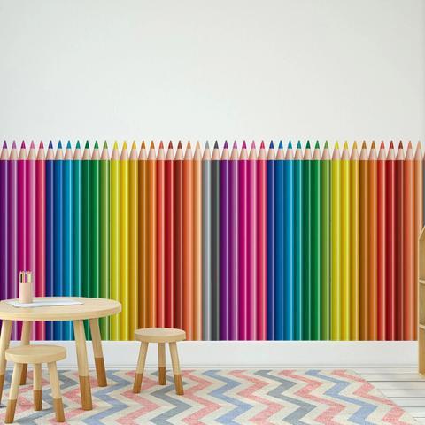 Imagem de Adesivo de Parede Infantil Lapis de Cor 100x110