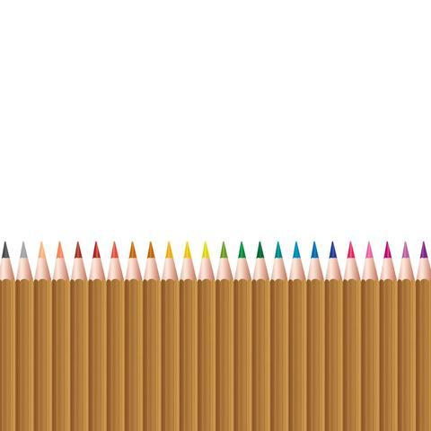 Imagem de Adesivo de Parede Infantil Lapis de Cor Madeira 120x52cm
