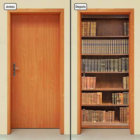 Imagem de Adesivo Decorativo de Porta - Estante de Livros - 001cnpt