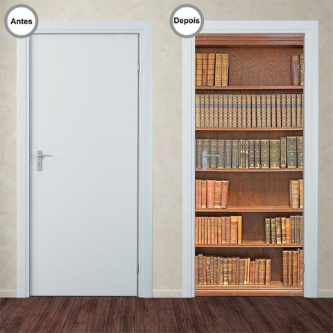Imagem de Adesivo Decorativo de Porta - Estante de Livros - 173pt