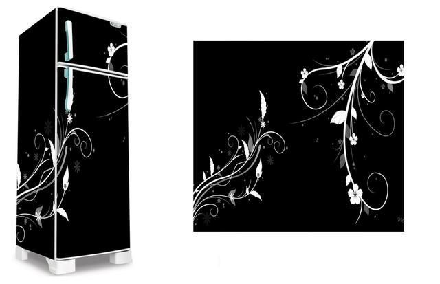 Imagem de Adesivo decorativo geladeira completa   (03 peças 80x190) floral