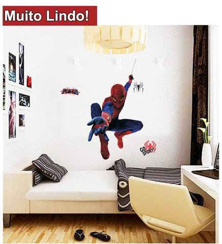 Imagem de Adesivo Decorativo Homem Aranha Infantil Criança Sala Laváve