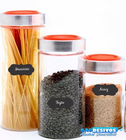 Imagem de Adesivo Decorativo Kit 50 Etiquetas(a Giz), Para Potes