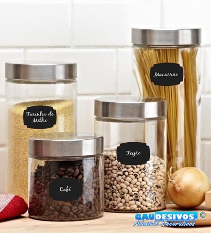 Imagem de Adesivo Decorativo Kit de Etiquetas Potes de Alimentos Cafe
