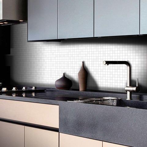 Imagem de Adesivo Destacável Pastilha para Cozinha Mix Branco