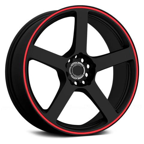 Imagem de Adesivo Friso Fita Refletivo Roda Para Carro 5MM Vermelha