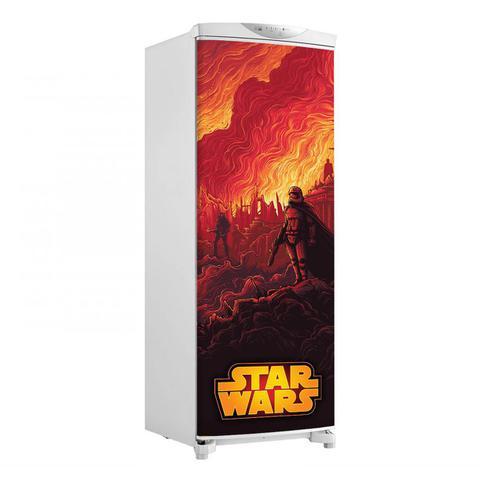 Imagem de Adesivo Geladeira Envelopamento Porta Star Wars 3 - 180x65cm
