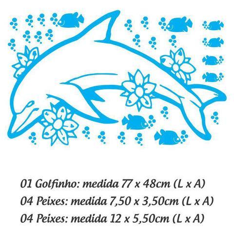 Imagem de Adesivo Para Box De Banheiro Golfinho - Branco