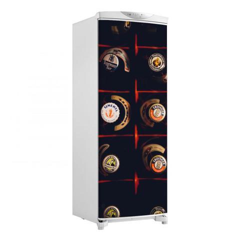 Imagem de Adesivo Para Geladeira Porta Engradado De Cerveja 150X60cm