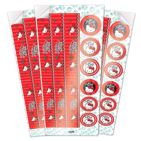 Imagem de Adesivo para Lembrancinha Hello Kitty 36 unidades Festcolor