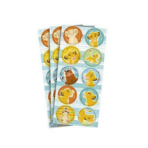 Imagem de Adesivo para Lembrancinhas Rei Leão kit com 3 Cartelas.