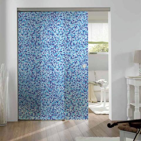 Imagem de Adesivo Para Vidro Box Banheiro Jateado Decorado Ladrilho Prova D'Agua