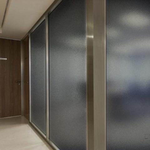 Imagem de Adesivo Para Vidro Box Banheiro Jateado Fume 0,61m Prova D'Agua