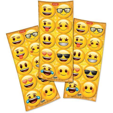 Imagem de Adesivo Redondo Emoji - 30 unidades