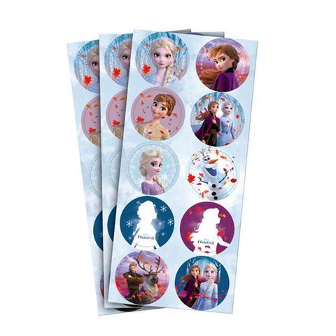 Imagem de Adesivo Redondo Frozen 2 - 30 unidades