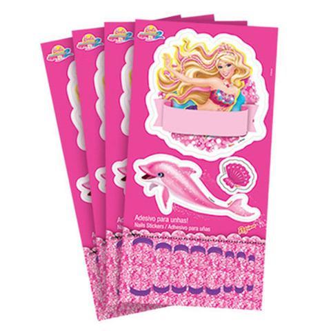 Imagem de Adesivos para Lembrancinha Barbie Vida de Sereia 2 03 cartelas Regina Festas