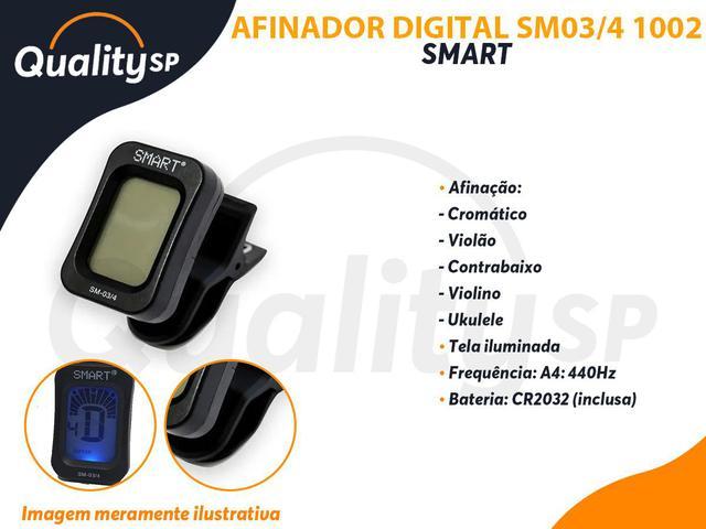Imagem de Afinador Cromatico Digital Smart SM03/4 Violão Contrabaixo