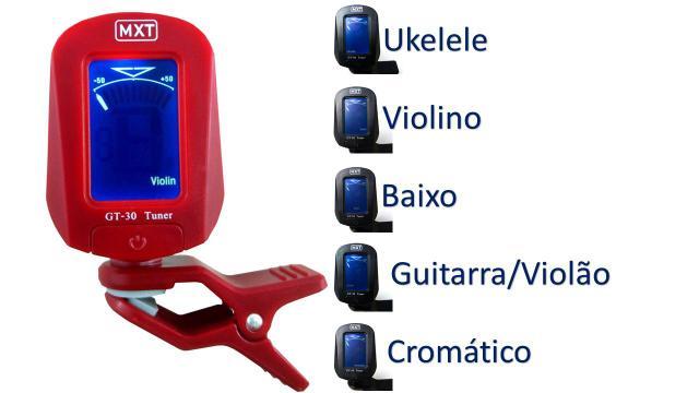 Imagem de Afinador Digital Cromático Para Violão,guitarra Mxt Gt-30