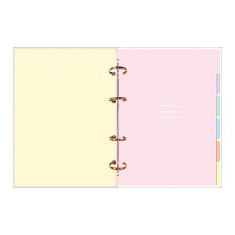 Imagem de Agenda Argolada 17,7cmx24cm Tilibra Planner Happy Rosa 2021