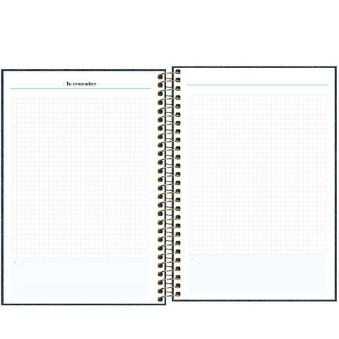 Imagem de Agenda Permanente Planner Executivo Espiral Cambridge Denim M7 177x240mm Tilibra