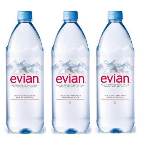 Imagem de Água Mineral Evian Sem Gás 1 Lt 03 Unidades