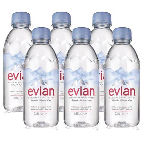 Imagem de Água Mineral Evian Sem Gás 330ml 06 Unidades