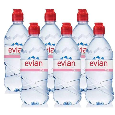 Imagem de Água Mineral Evian Sem Gás Plástico 750ml 06 Unidades