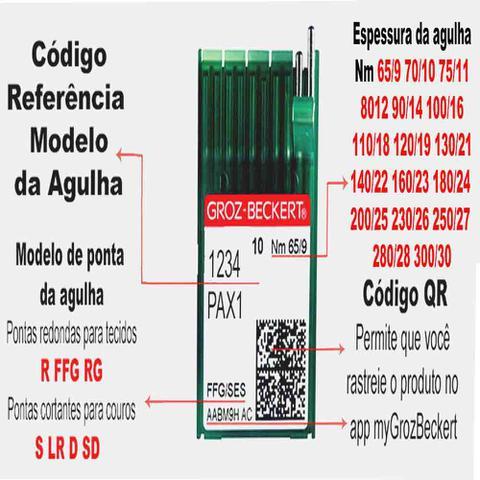 Imagem de Agulha Longa Para Máquina De Costura Industrial 134-35 LR  Pacote Com 10 Unidades