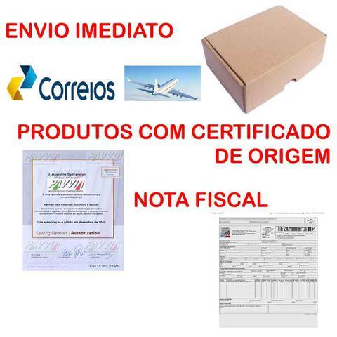 Imagem de Agulha para Máquina de Costura Cabo Grosso 134 R DP X 5 Ponta Redonda Pacote com 10 unidades