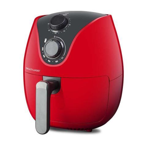 Imagem de Air fryer fritadeira sem óleo ce084 vermelha 220v - multilaser