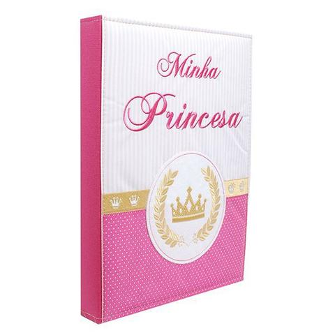 Imagem de Álbum 240 Fotos 10x15 Bebe Bordado Minha Princesa Rec 501/03