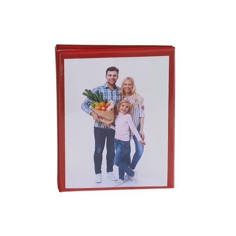 Imagem de Album Casual Rebites 80 fotos 15x21 Visor Vermelho