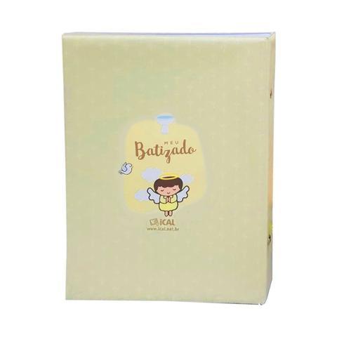 Imagem de Álbum Comemorativo 80 Fotos 15x21 Batizado Amarelo