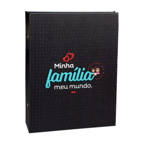 Imagem de Álbum Criativa Folhas Preta 160 Fotos Minha Familia