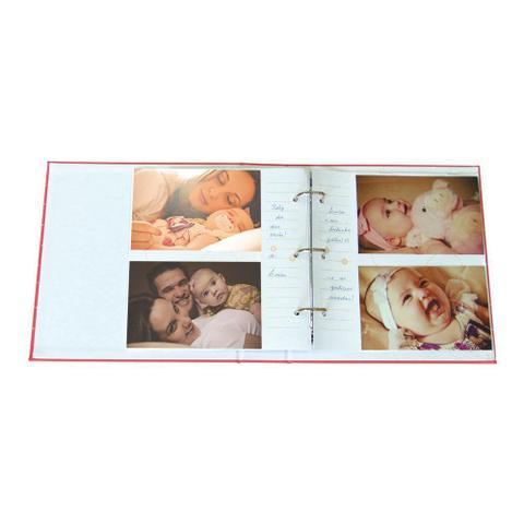 Imagem de Album De Bebe Capa Tecido Minha Princesa 200 Fotos 10x15