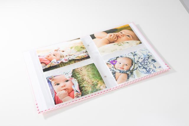 Imagem de Álbum de Bebê Rebite Solda Ursinho Menina 120 Fotos 10X15