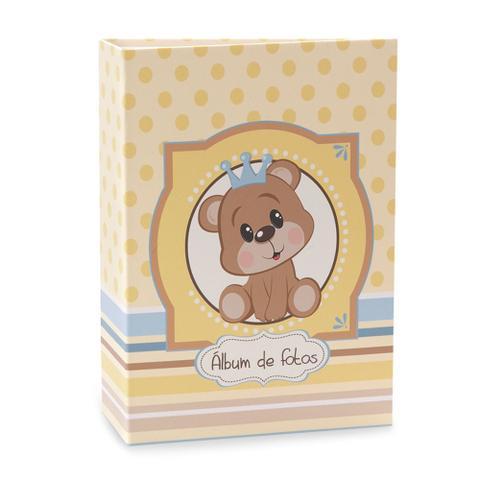 Imagem de Álbum de Bebê Rebites Solda Ursinho Menino 120 Fotos 10X15