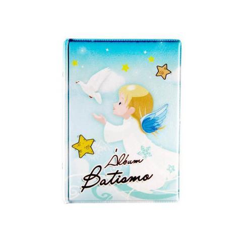 Imagem de Album de fotos 10x15 Batismo Azul para 100 fotos  -  79567 x0