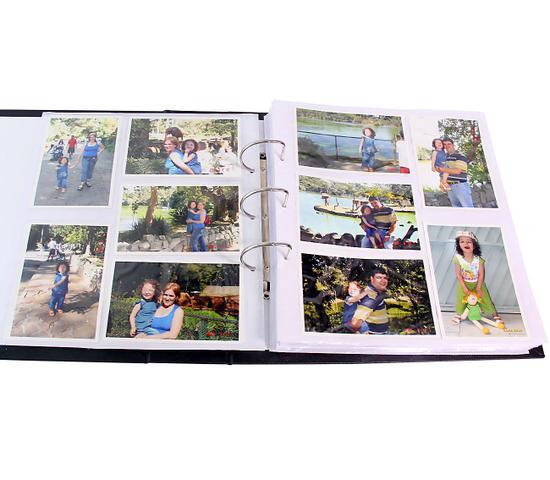 Imagem de Album de Fotos 10x15 Mega 1000 Fotos Corino Preto Com Ferragem