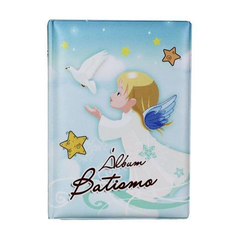 Imagem de Álbum de Fotos 15x21 Batismo Azul para 100 fotos - 114499
