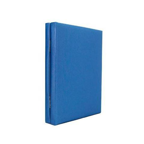 Imagem de Álbum de Fotos 15x21 Cetim Azul para 40 fotos c/ estojo - 142484